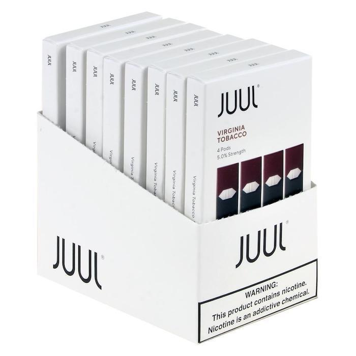 Virginia Tobacco JUUL Pods 5% 4-Pack | Display of 8-Replacement Pods-Juul-Display of 8-CRAZE Vapor Wholesale