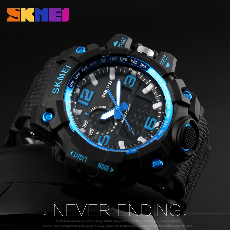 mens led design dp waterproof simple big numbers watches digital watch sports army military wrist civo