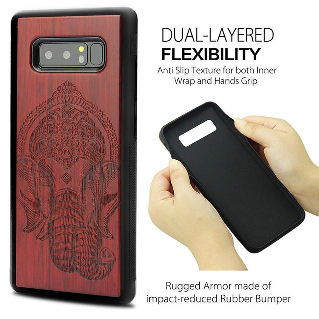 Luxury Wood Totem Tree Carving Case for Samsung Note 8