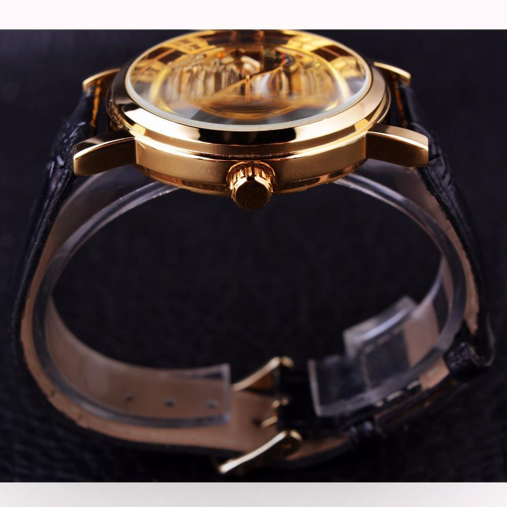 watch chinese mechanical dragon forsining products the male top throne case luxury s mens brand design transparent watches skeleton gold