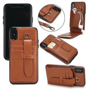 Luxury Leather Flip Case for iPhone X