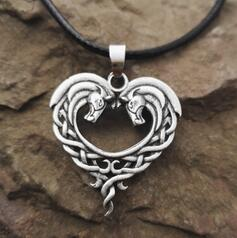 Fantasy Celtic Horse Lords Necklace AH0K230301