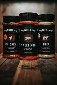 Hey Grill Hey Signature Seasonings - Large - 3 pack