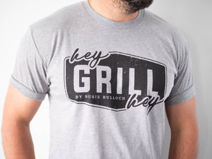 Hey Grill, Hey Logo Short-Sleeve Unisex T-Shirt Grey