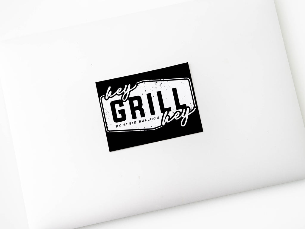 MARKED DOWN!!! Hey Grill, Hey Logo Sticker For Your Fridge or Cooler