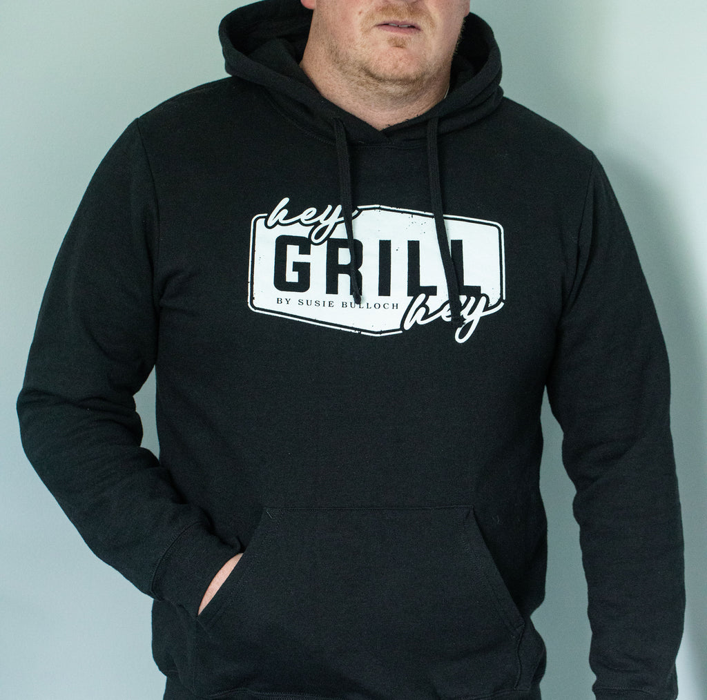 Hey Grill, Hey Logo HOODED SWEATSHIRT - Black