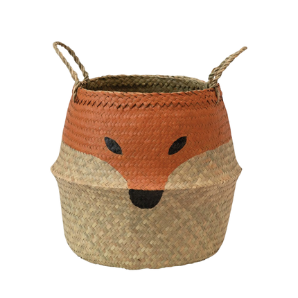 Seagrass Fox Basket with Handles
