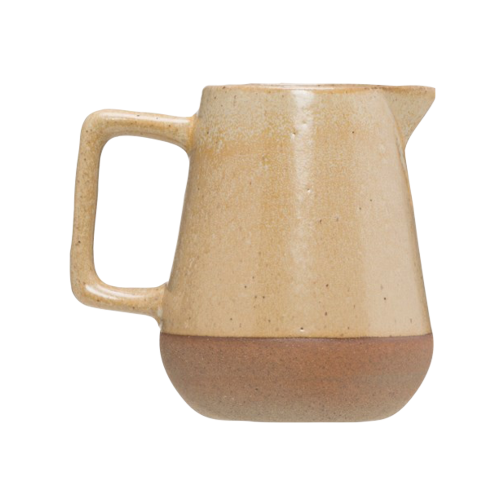 Stoneware Creamer with Reactive Glaze