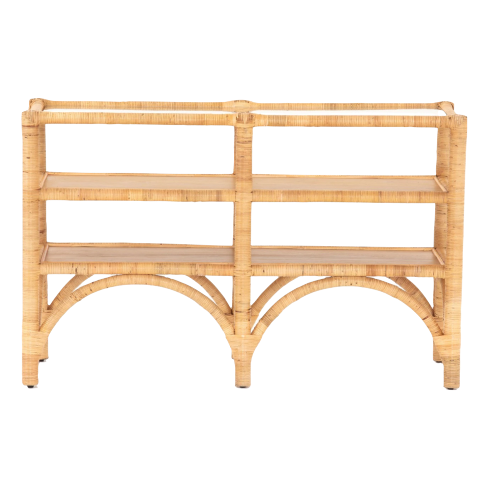Auden Rattan Wrapped Console Table