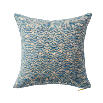 Heather Blue Tai Lue Throw Pillow