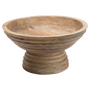 Wood-ridged Footed Bowl