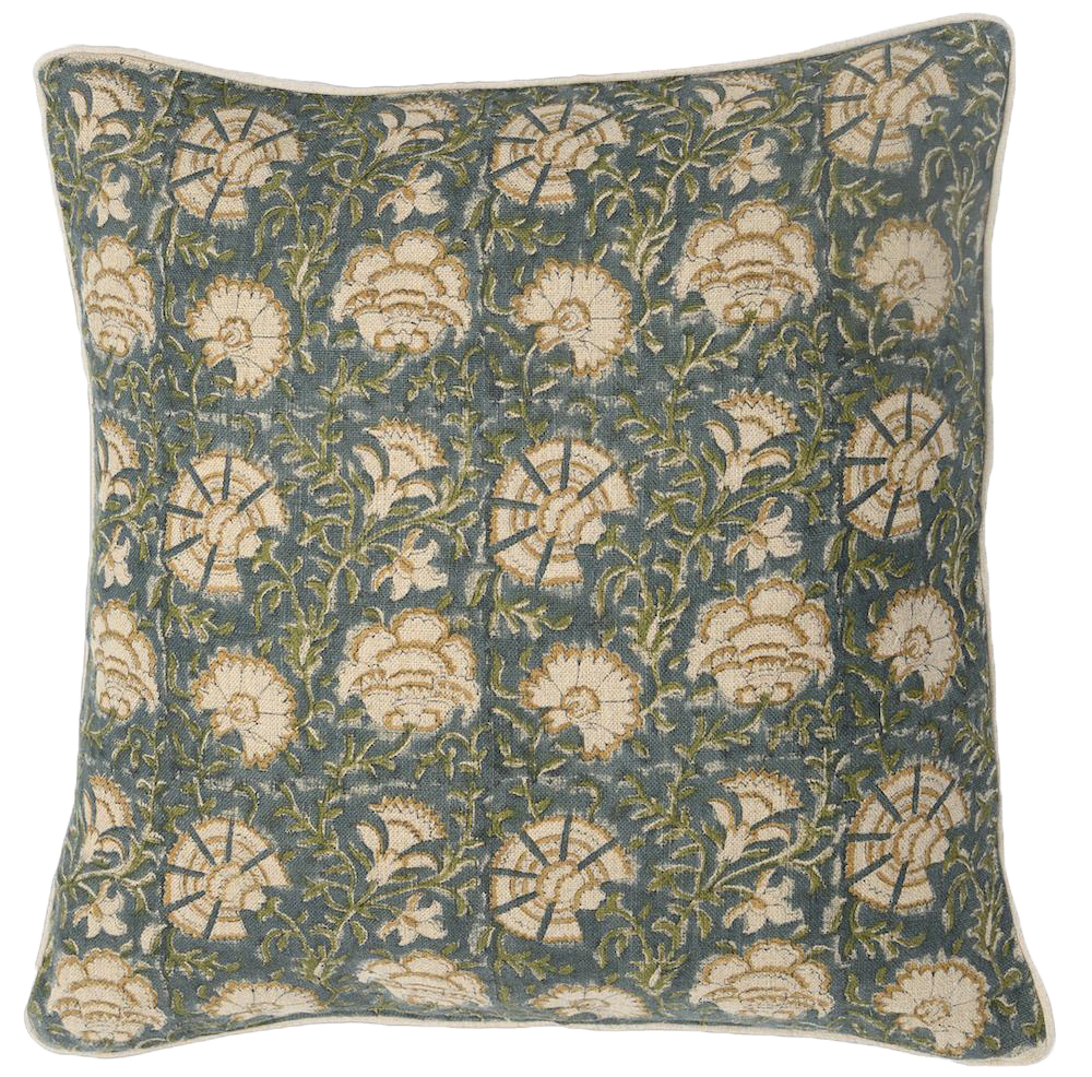 Nisa Lush Block Print Pillow
