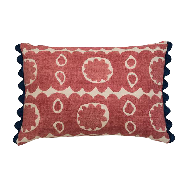 Osborne Red Lumbar Pillow