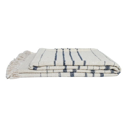 Nate Striped Linen Throw