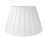 Linen Box Pleated Pembroke Shade, Snow