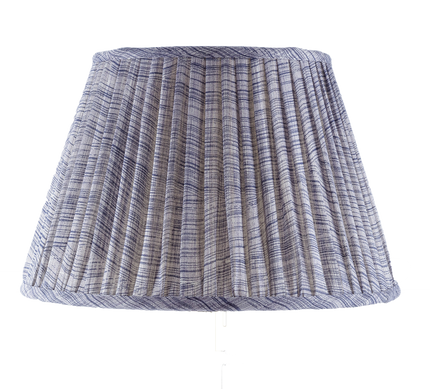 Gathered Bedwyn Shade, Indigo Wave