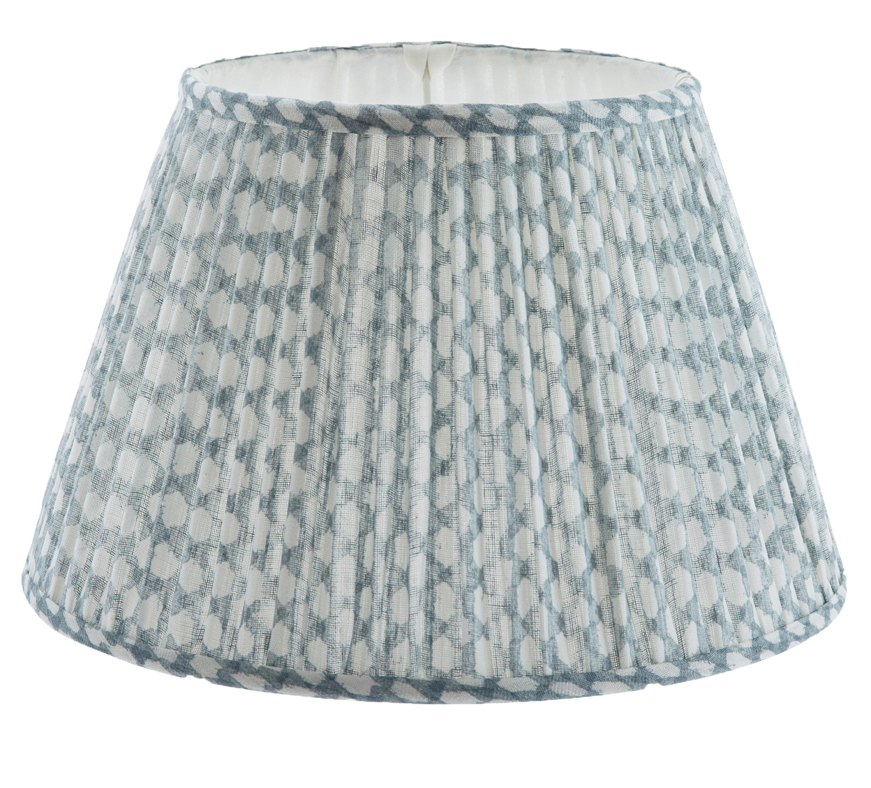 Gathered Bedwyn Shade, Wicker Light Blue