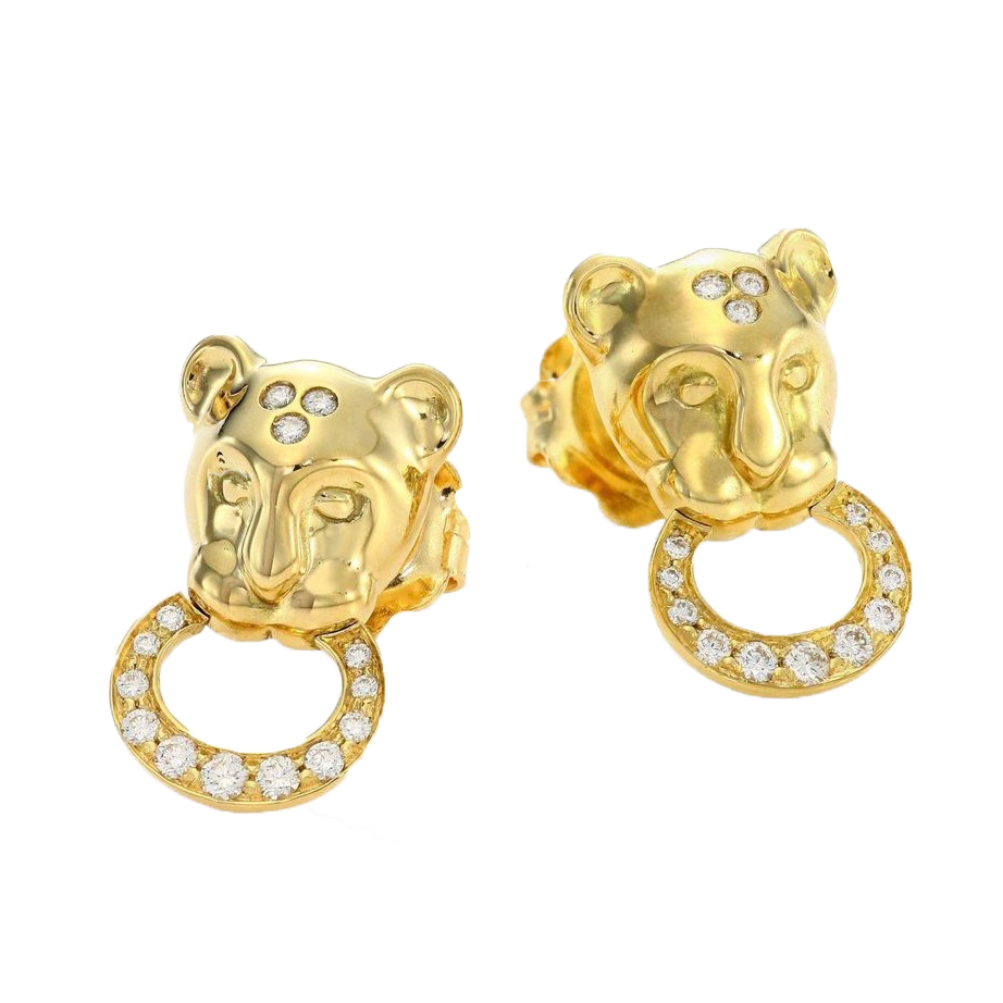 Temple St. Clair Lion Head Earrings