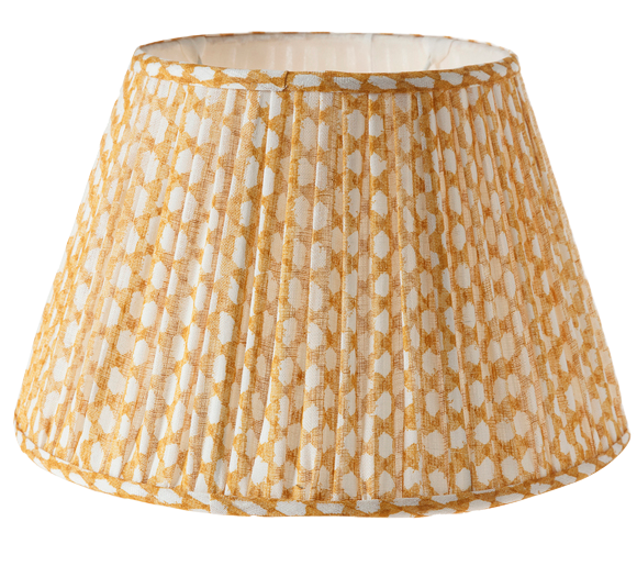 Gathered Bedwyn Shade, Wicker Yellow