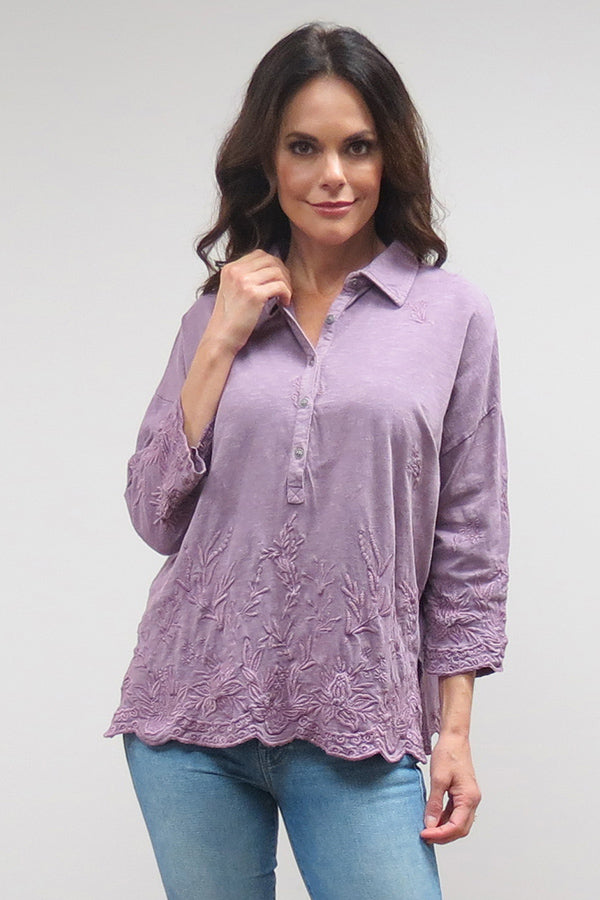 Alanis Top | Lavender Grey