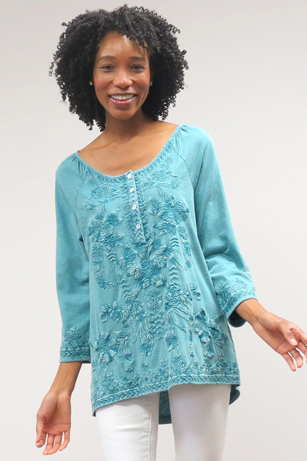 Alyse Top | Gentle Teal