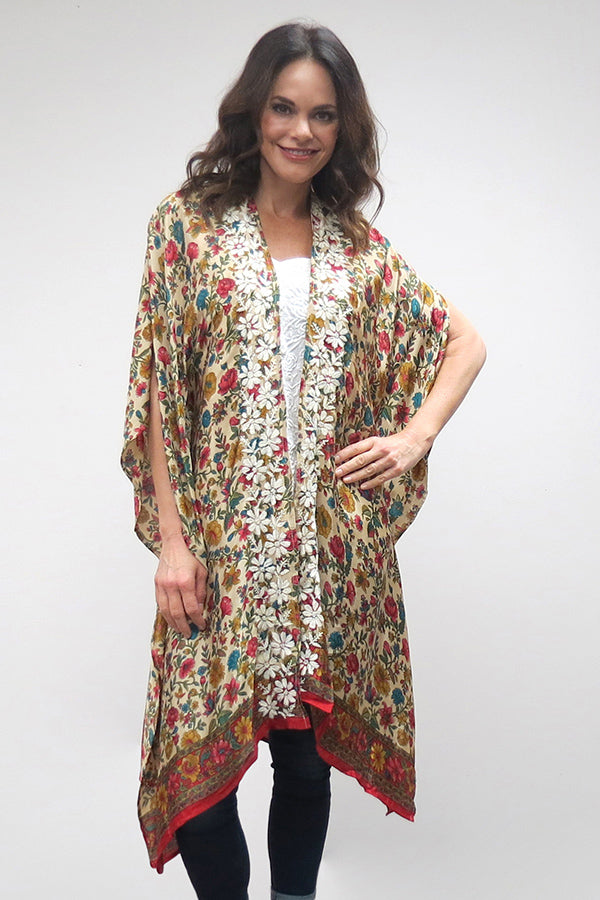 Love Kyla Embroidered Maxi Kimono (Fall)