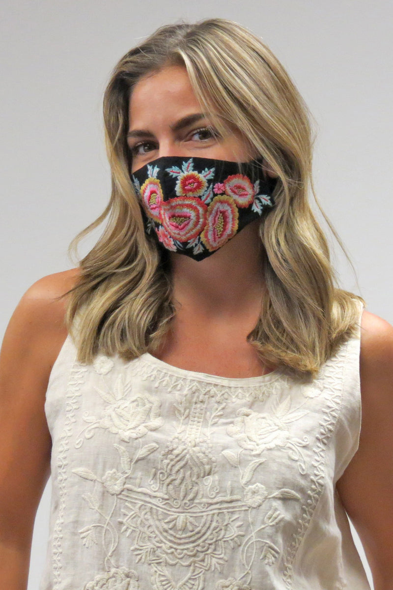 Pack of 4 Embroidered Masks - Preorder