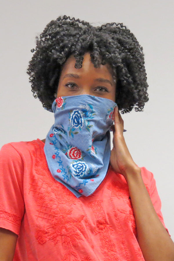 Bette Bandana | Blue Chambray - Preorder