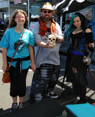 Sam, Ren Cummins, & YA Author Kiri Callaghan at Westport's Pirate Daze, 2018
