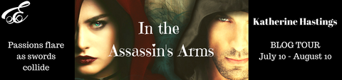 Thrice Read Books presents - Our blog tour stop on the Fiery Seas Blog Tour for Historical Romance Debut novel In the Assassin's Arms by Katherine Hastings