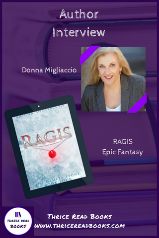 Jenn sits down to talk to Donna Migliaccio about her GEMETA STONE fantasy series, and about her new release RAGIS on this edition of the Thrice Read Books blog