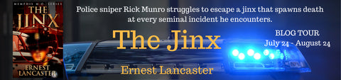 Thrice Read Books is a stop on the blog tour for Ernest Lancaster's debut novel, The Jinx.