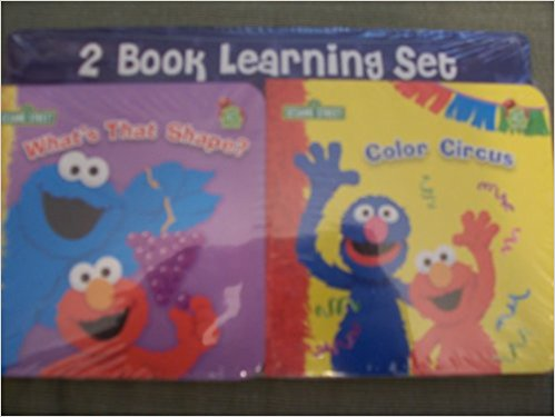Sesame Street 2 Book Learning Set (What's That Shape? and Color Circus)
