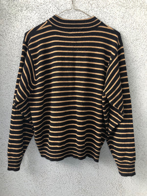 Vintage Striped Mockneck Sweater