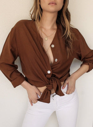 Vintage Silk Buttondown Blouse