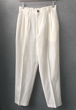 Vintage High Waisted Linen Trousers