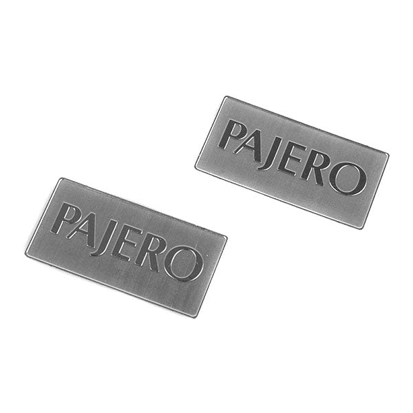 RC4WD Metal License Plate for Tamiya CC01 Pajero (Silver)