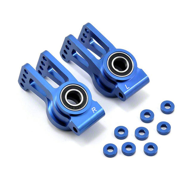 Losi Aluminum Rear Hub Set (Blue) (2)5IVE-T MINI WRC