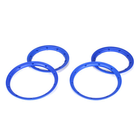 Losi 5IVE-T Inner & Outer Beadlock Set (Blue) (4) 5IVE-T