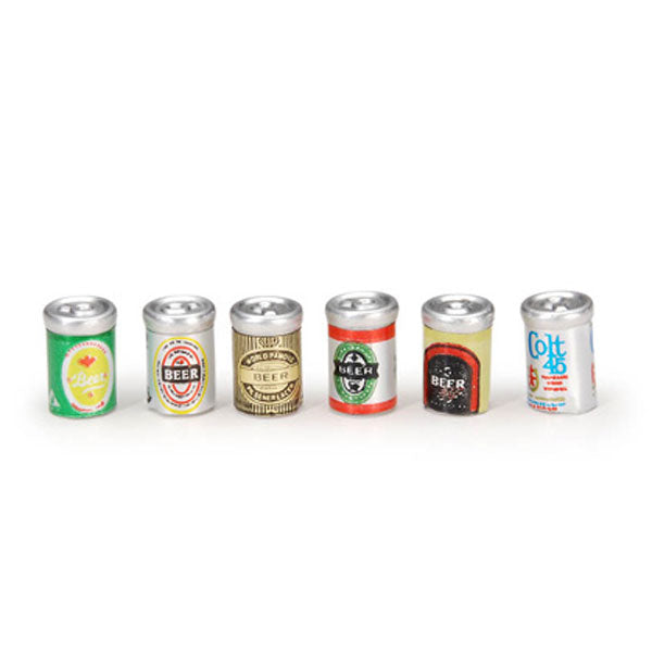 Miniature - Assorted Beer Cans - 1/2 inch