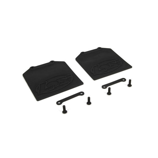 Losi Mud Flap & Retainer Set (2) 5IVE-T
