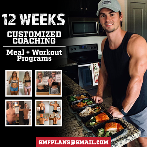 12 WEEK CUSTOMIZED MEAL + WORKOUT PLANS