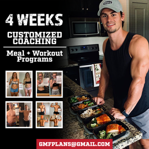 4 WEEK CUSTOMIZED MEAL + WORKOUT PLANS