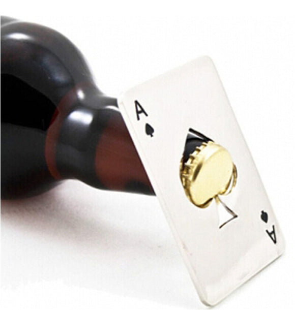 New Stylish Playing Card (Ace of Spades) Bottle Cap Opener