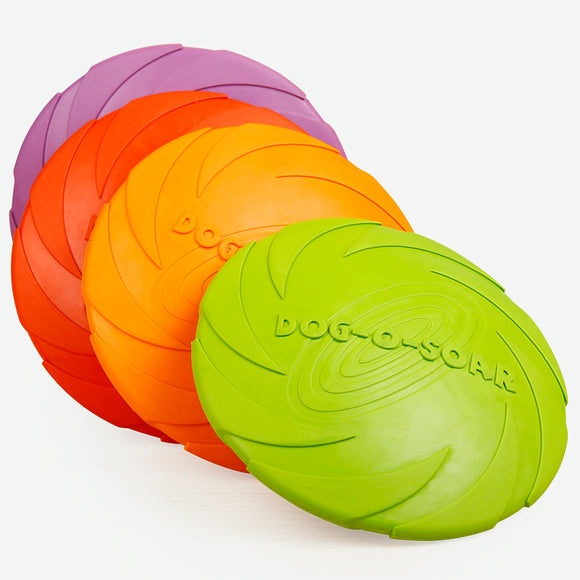 Eco-Friendly Natural Dog Frisbee, Rubber Material with Soft Tough, Dog Toy in 3 Colors