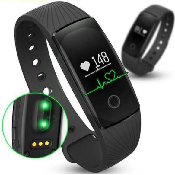 Smartband Heart Rate Monitor Wristband Fitness Flex Bracelet for Android, iOS, PK xiomi