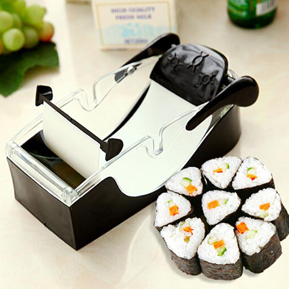 DIY Sushi Maker with Cutter and Roller Function for Handmade Onigiri Rolls