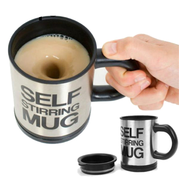 Automatic Self Stirring Mug for Mixing Coffee, Milk & Sugar, 400ml, 2 Variants, 6 Colors