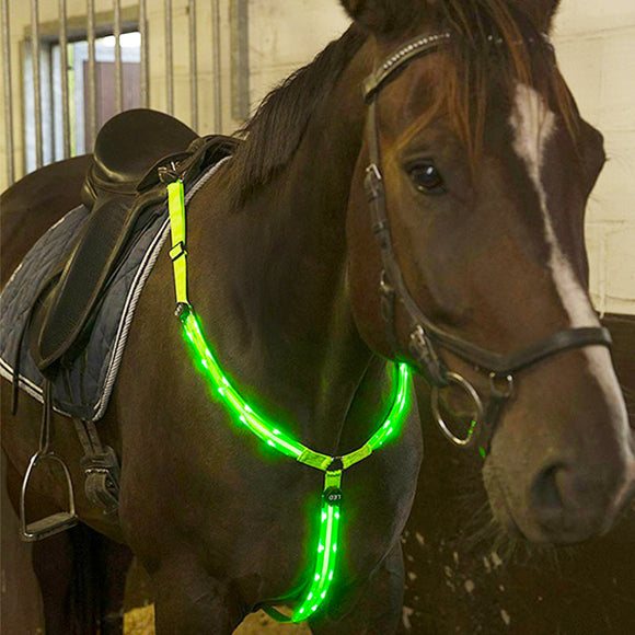 Breastplate Nylon Dual LED Horse Harness