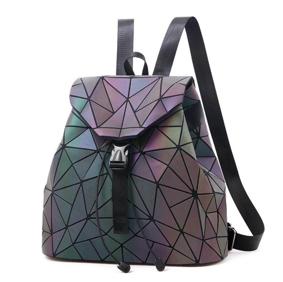 Laser Luminous Backpack Shoulder Bag Folding Student School Bags  Bao Backpack - Zamavi.com